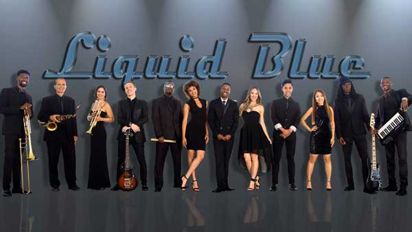 Liquid Blue Wedding Party Band